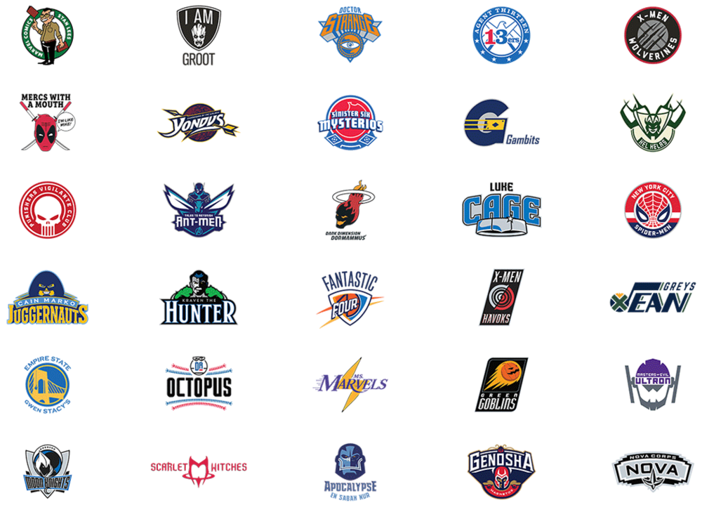 Brand New: Marvel-NBA Logos
