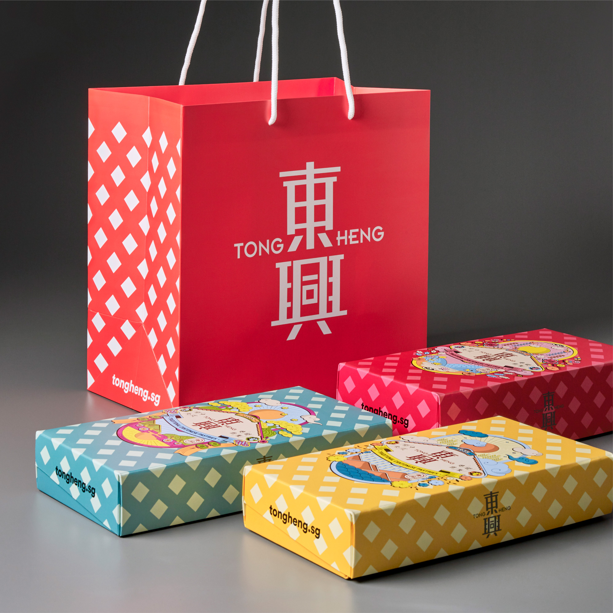 New Logo, Identity, and Packaging for Tong Heng by &Larry