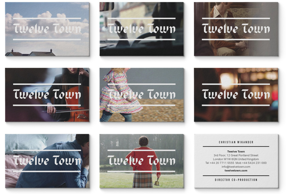 New Logo and Identity for Twelve Town by Johnson Banks