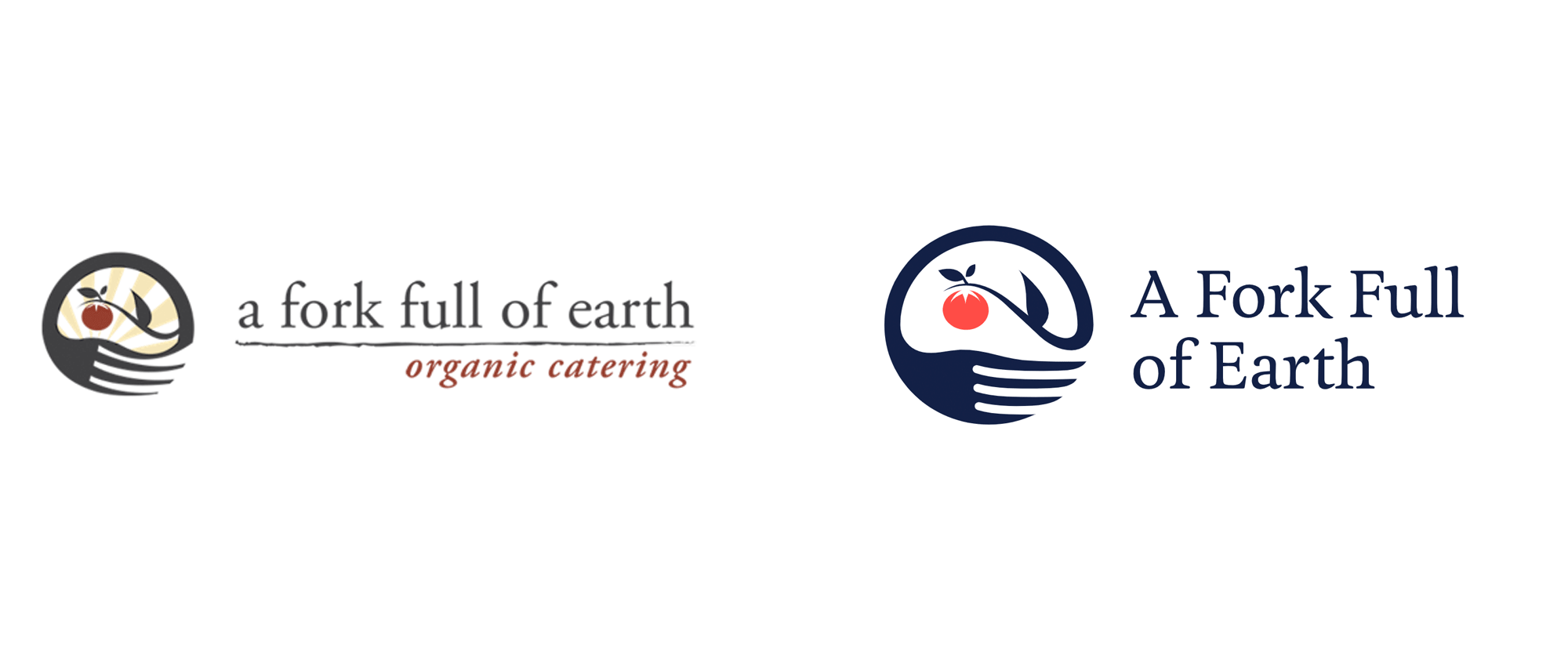 New Logo and Identity for A Fork Full of Earth by Noise13
