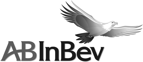 Anheuser-Busch InBev Logo, Detail in Black and White