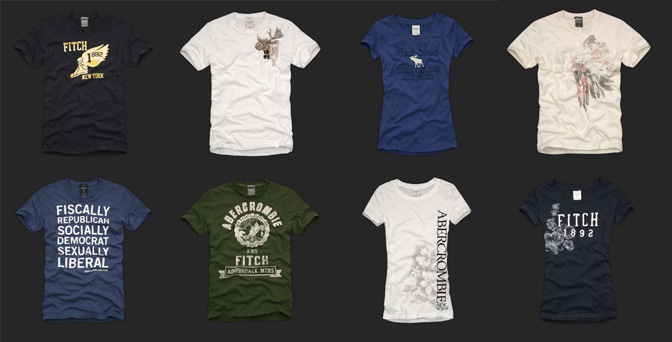 Brand new a f logo doesn 39 t sell for Abercrombie and fitch tee shirts