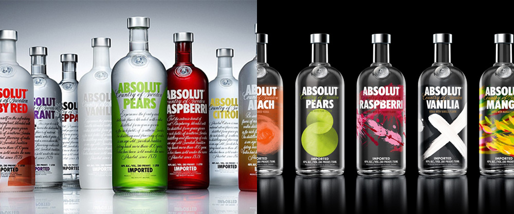 New Packaging for Absolut Vodka Flavours by The Brand Union