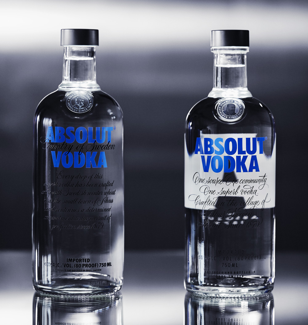 New Packaging for Absolut Vodka by The Brand Union