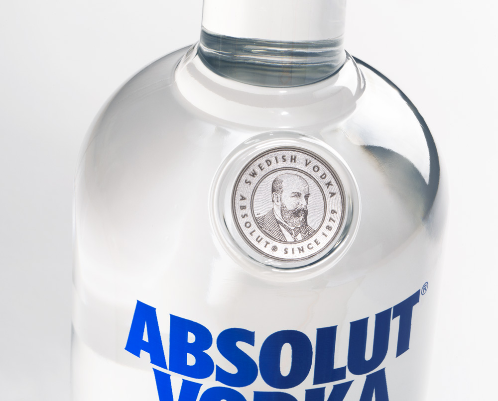 brand new new packaging for absolut vodka by the brand union