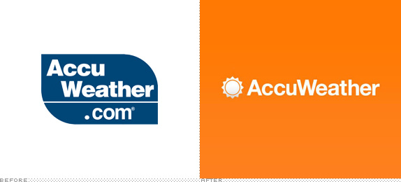 AccuWeather Logo, Before and After