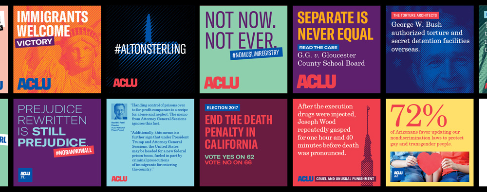 New Logo and Identity for ACLU by Open, Co:Collective, and Frere-Jones Type