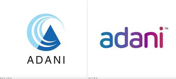 Adani Group Logo, Before and After