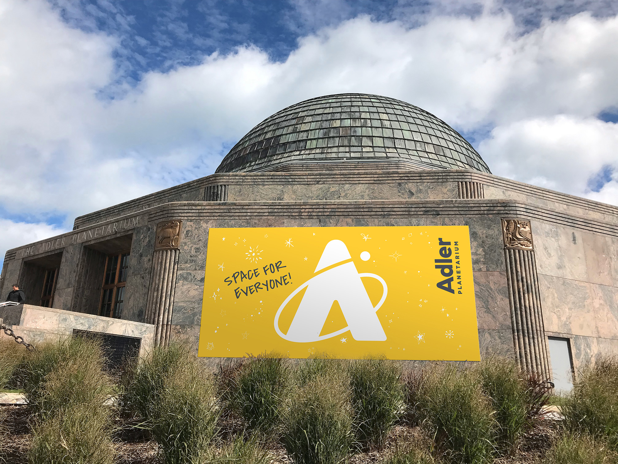 New Logo and Identity for Adler Planetarium by Pause for Thought and The Change Project