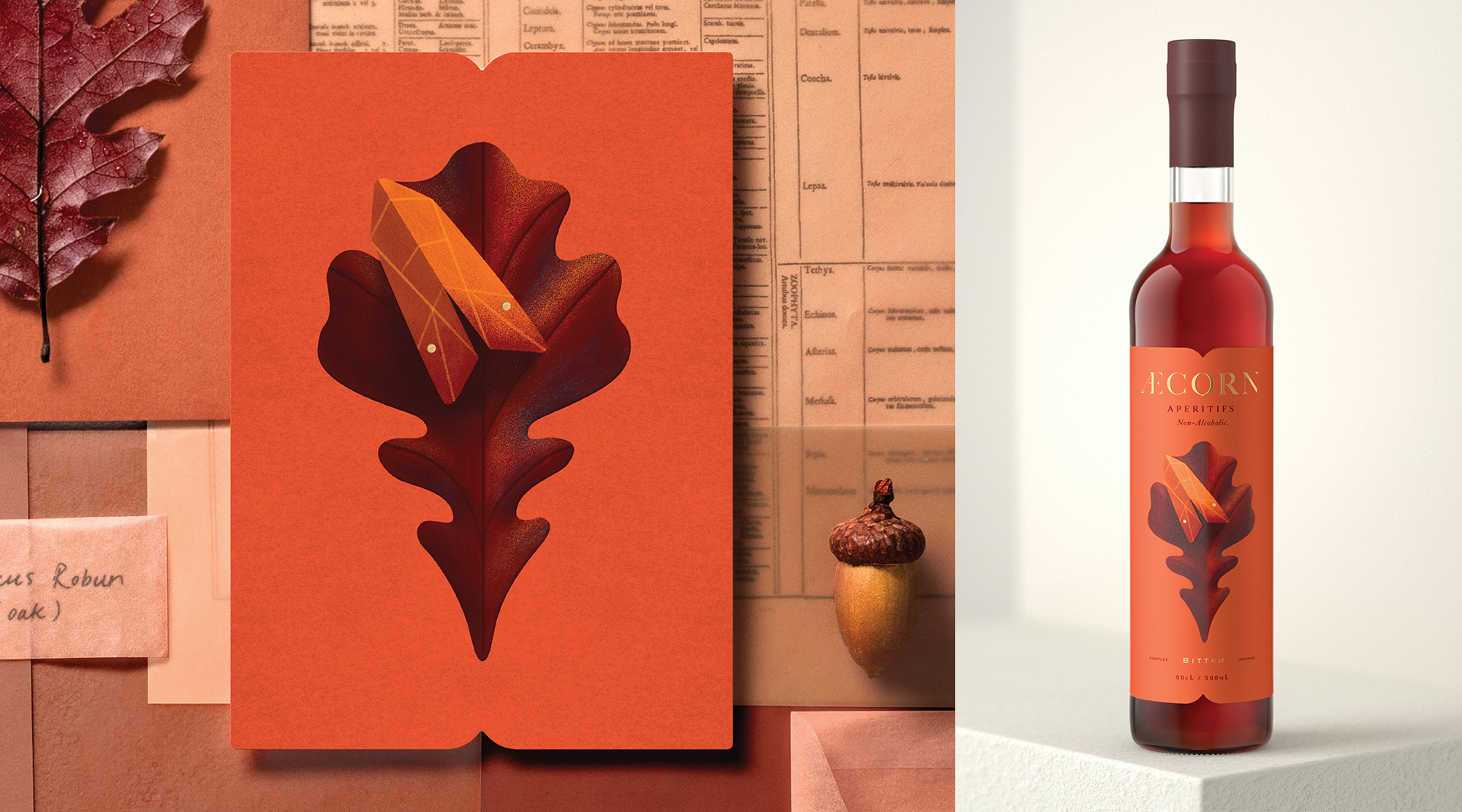 New Logo and Packaging for Æcorn Aperitifs by Pearlfisher