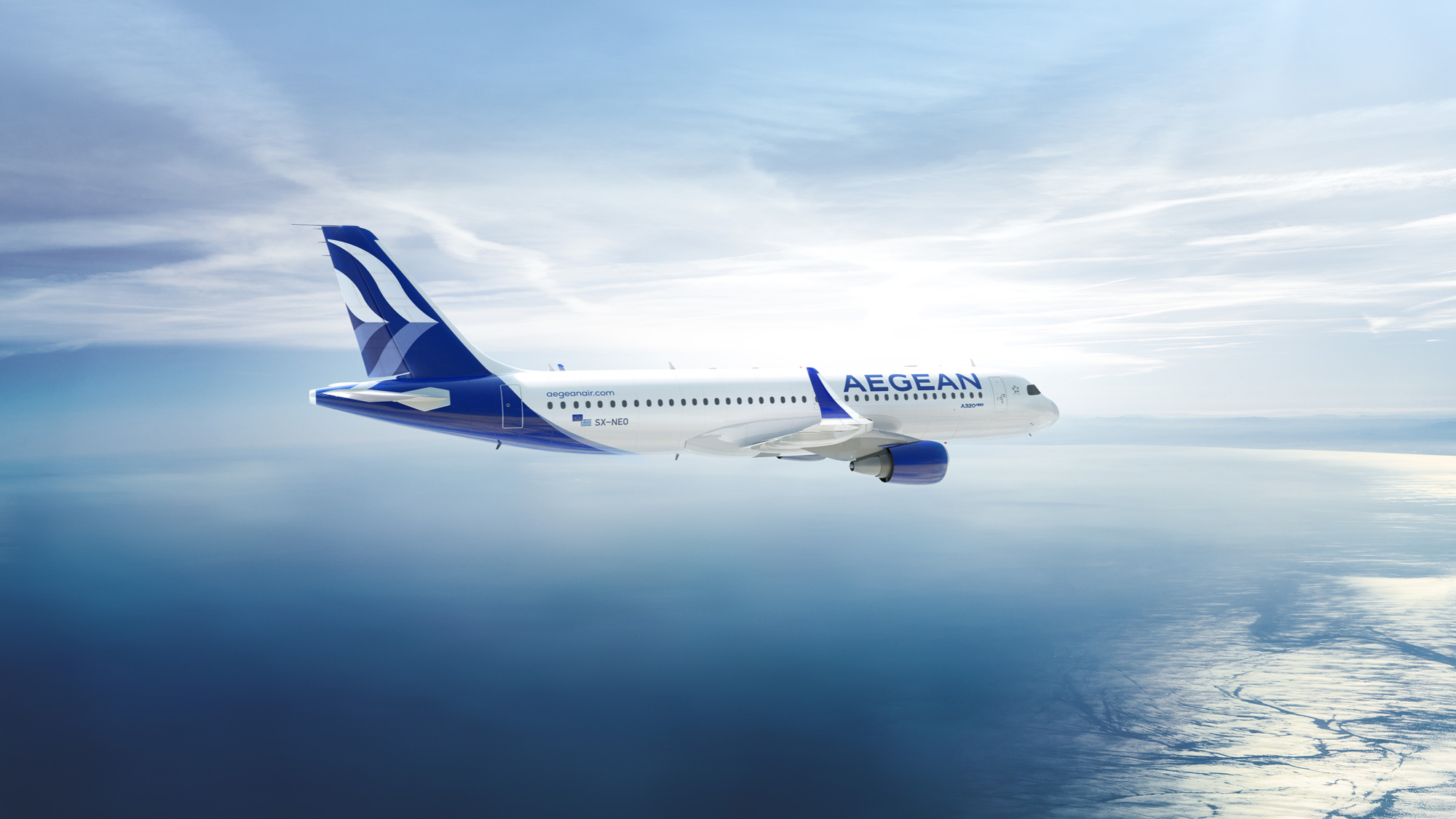 New Logo, Identity, and Livery for Aegean by PriestmanGoode