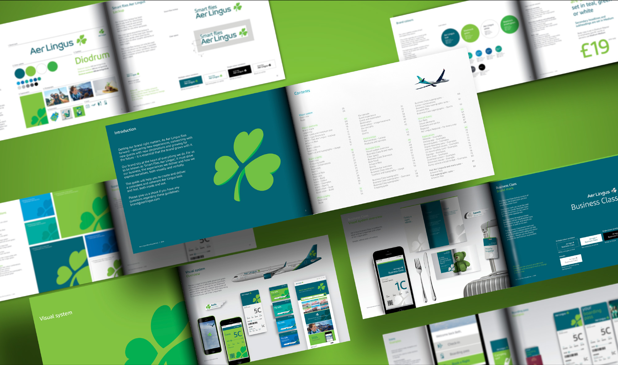 New Logo, Identity, and Livery for Aer Lingus by Lippincott