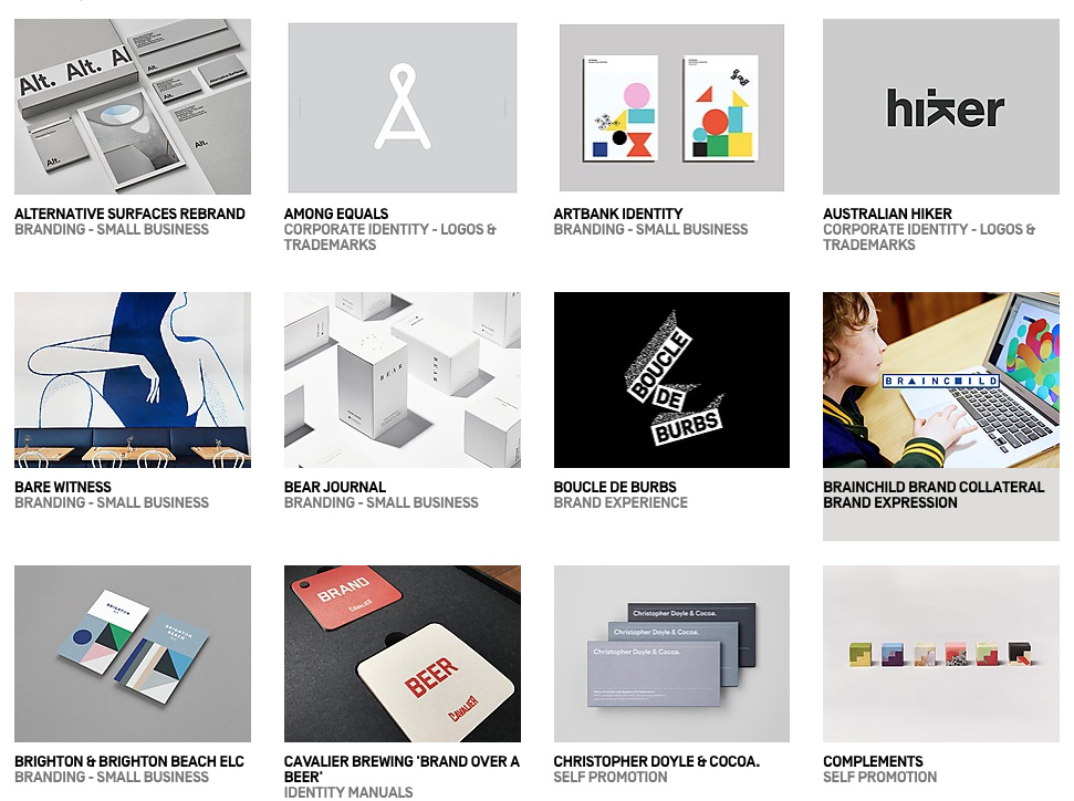 AGDA Design Awards Finalists