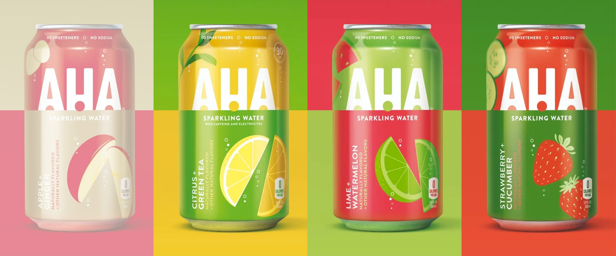 New Logo and Packaging for AHA by Taxi Studio
