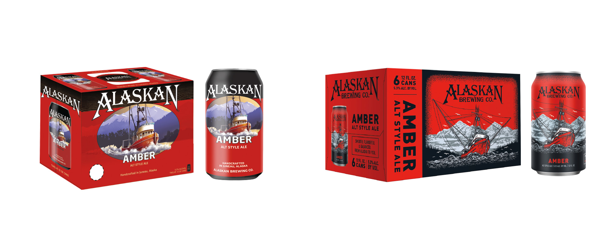 New Packaging for Alaskan Brewing Company by Blindtiger