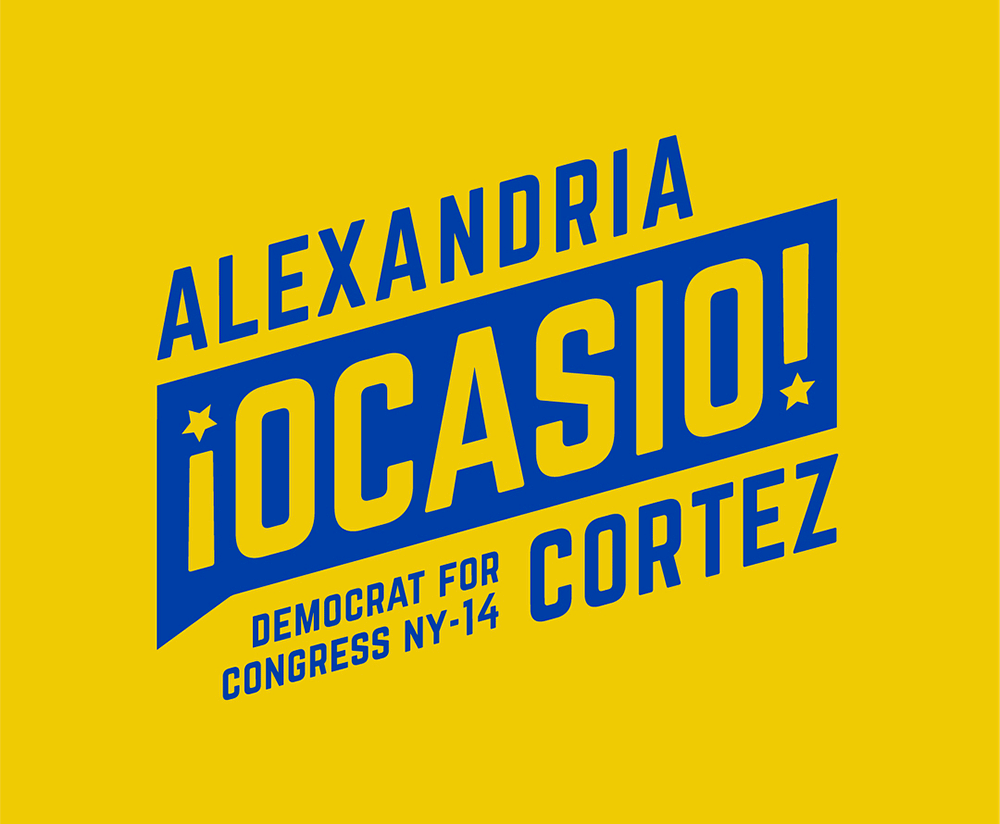 New Logo and Identity for Alexandria Ocasio-Cortez 2018 Campaign by Tandem