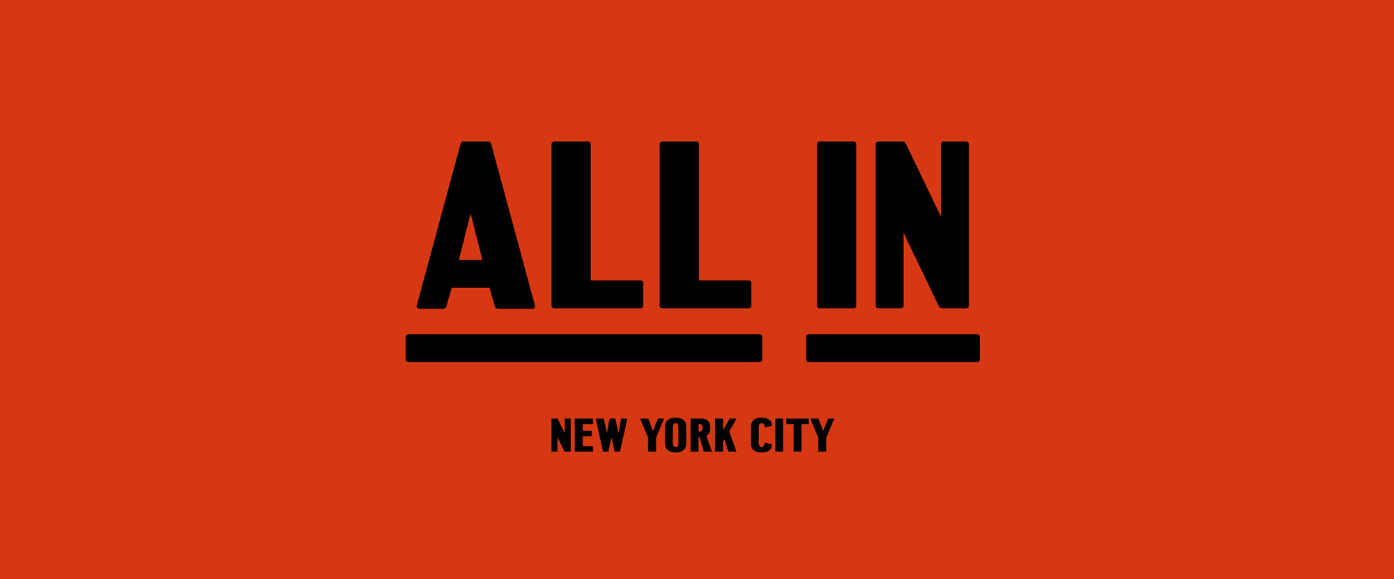 New Logo and Campaign for All in NYC by Aruliden