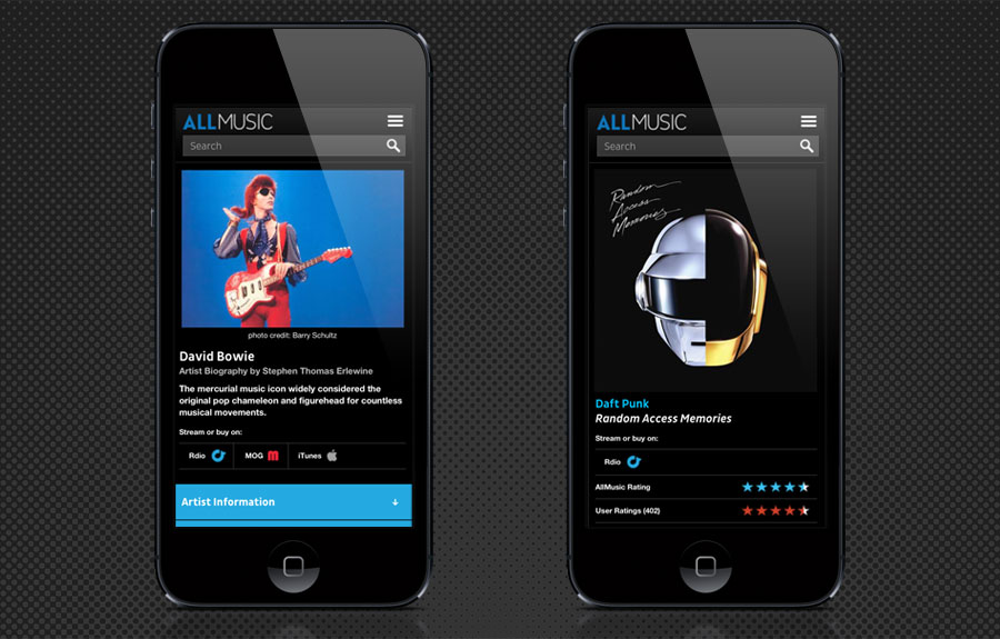 New Logo for AllMusic Done In-House