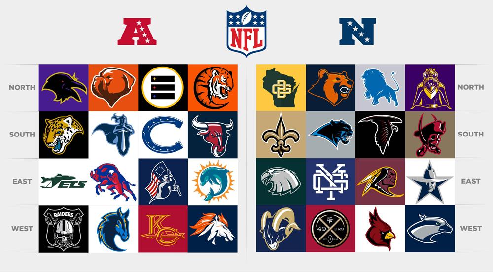 All NFL Team Logos Redesigned
