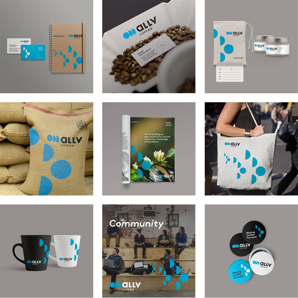 New Logo and Identity for Ally Coffee