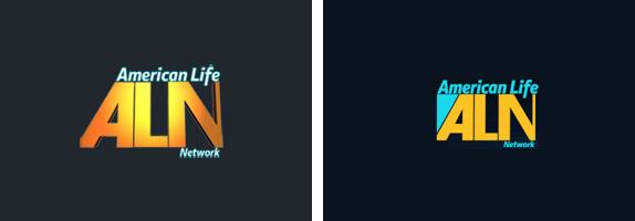 American Life Network Logo, Alternates