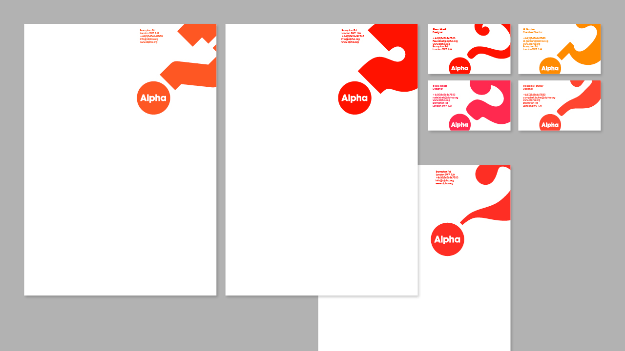 New Logo and Identity for Alpha Course