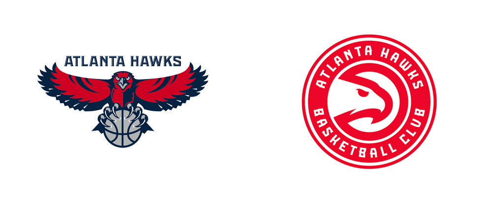 brand new new name and logos for atlanta hawks basketball club