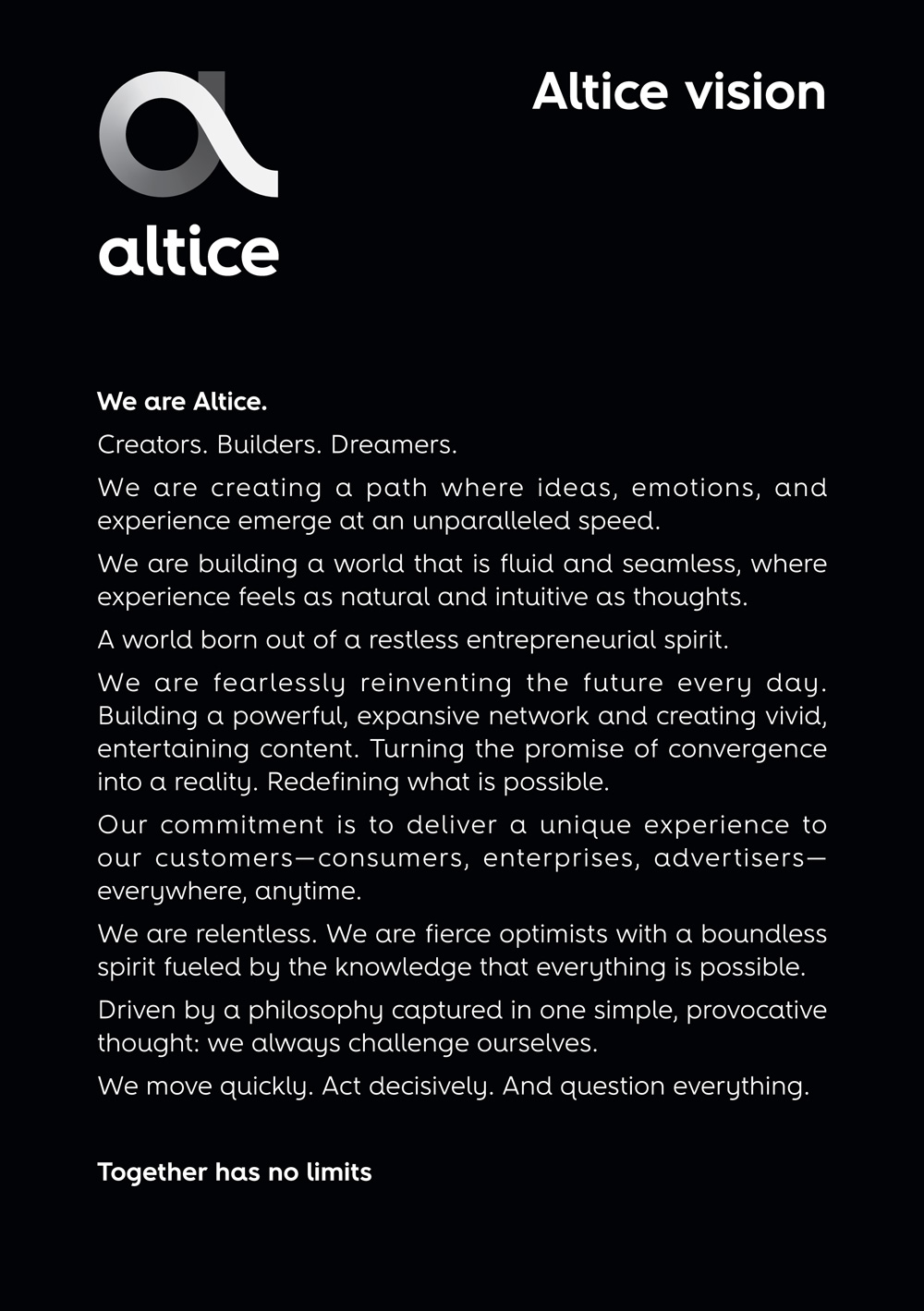 New Logo and Identity for Altice by Publicis Groupe and Turner Duckworth