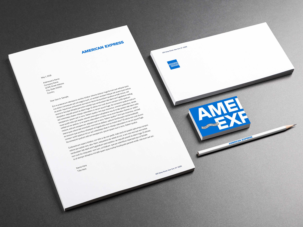 brand new  new logo and identity for american express by