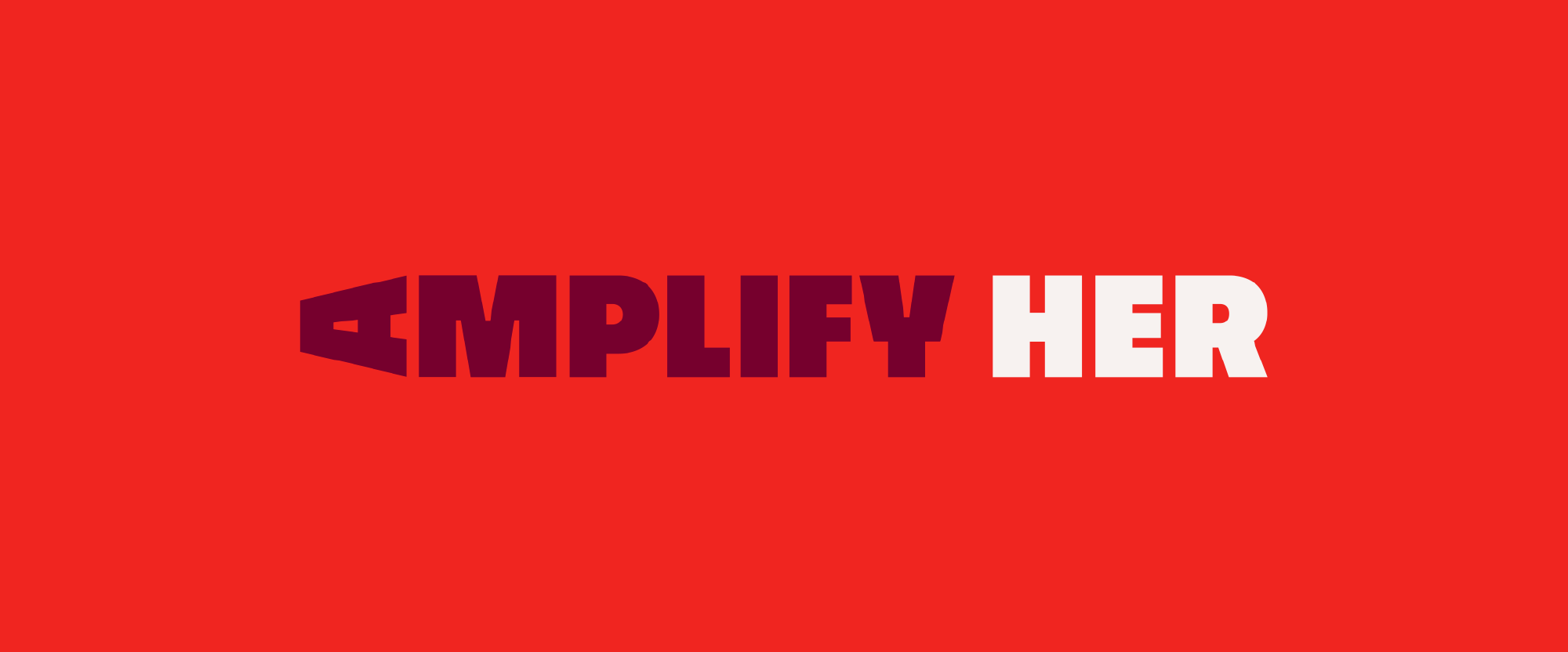 New Logo and Identity for Amplify Her by Sam Bumbalo