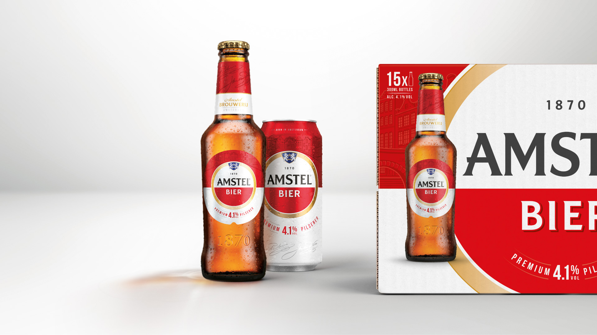 New Logo and Packaging for Amstel by Elmwood