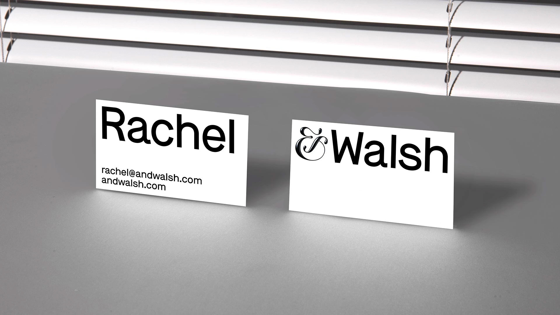 New Name, Logo, and Identity for and by &Walsh