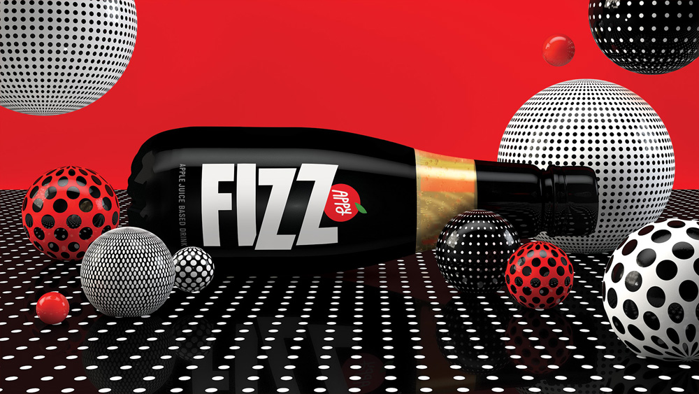 New Packaging and Brand Campaign for Appy Fizz by Sagmeister & Walsh