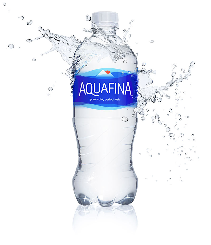 New Logo and Packaging for Aquafina done In-house