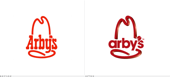 Arby's Logo, Before and After