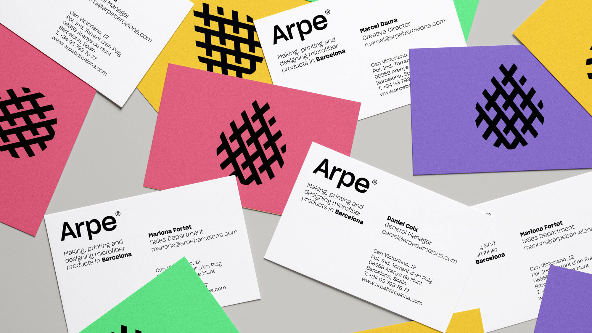 New Logo and Identity for Arpe by Toormix