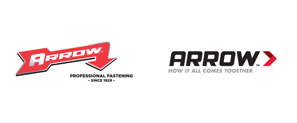 Brand New New Logo And Identity For Arrow Fastener