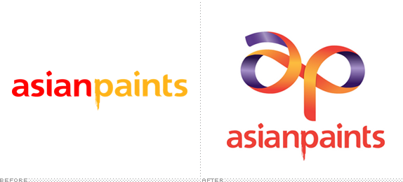 Asian Paints Logo, Before and After