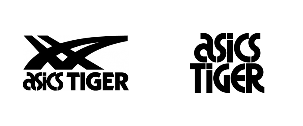 Whitney Hizo un contrato Baño  Brand New: New Logo and Identity for ASICS Tiger by Alan Peckolick and  Bruce Mau Design