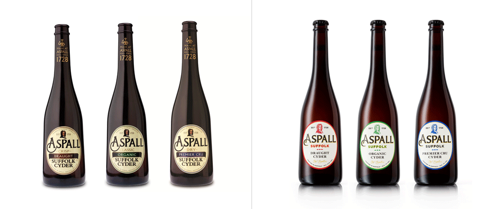 New Logo and Packaging for Aspall by NB Studio