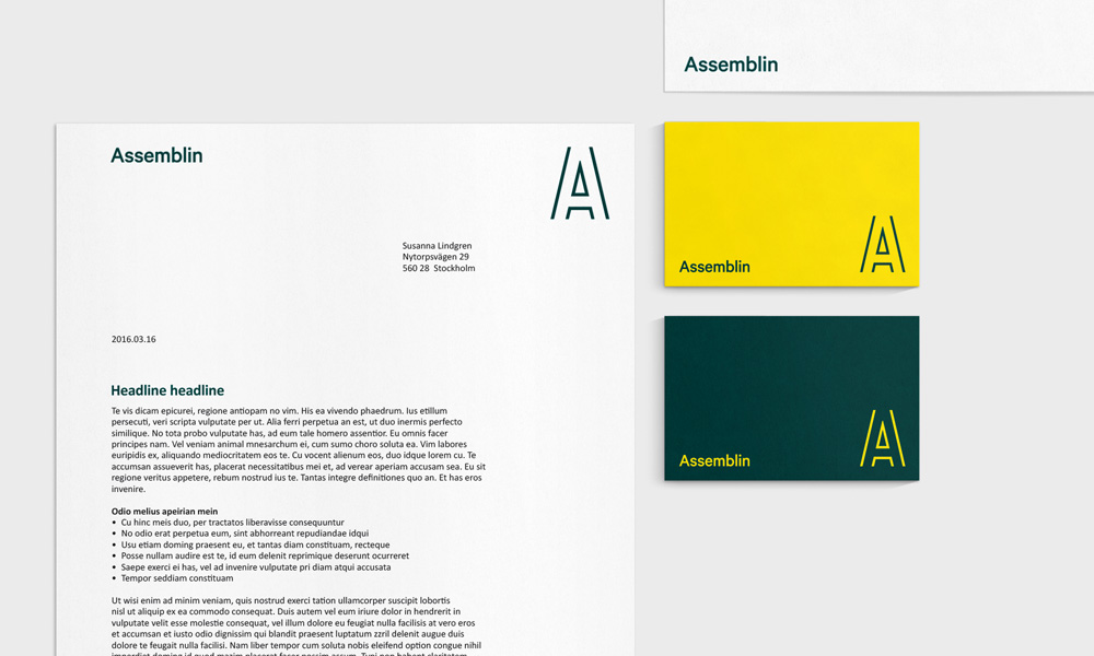 New Name, Logo, and Identity for Assemblin by Essen International