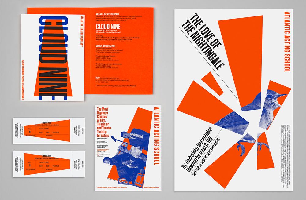 New Logo and Identity for Atlantic Theater Company by Pentagram