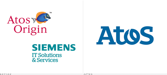 Atos Logo, Before and After