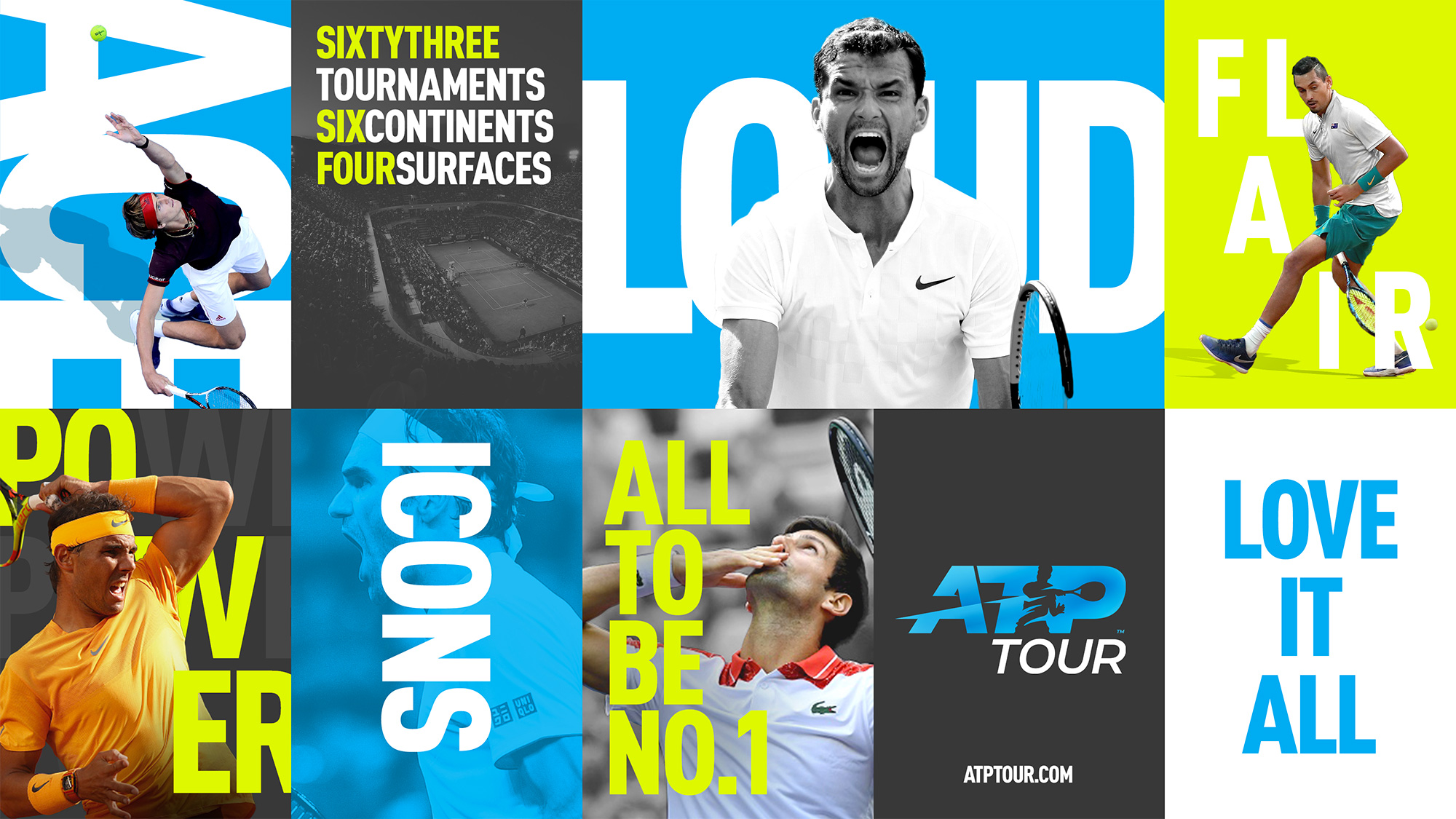 New Logo and Identity for ATP Tour by Matta