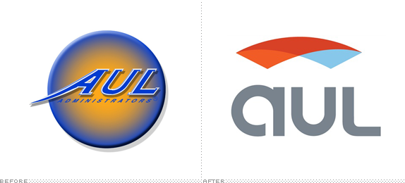 AUL Corp. Logo, Before and After