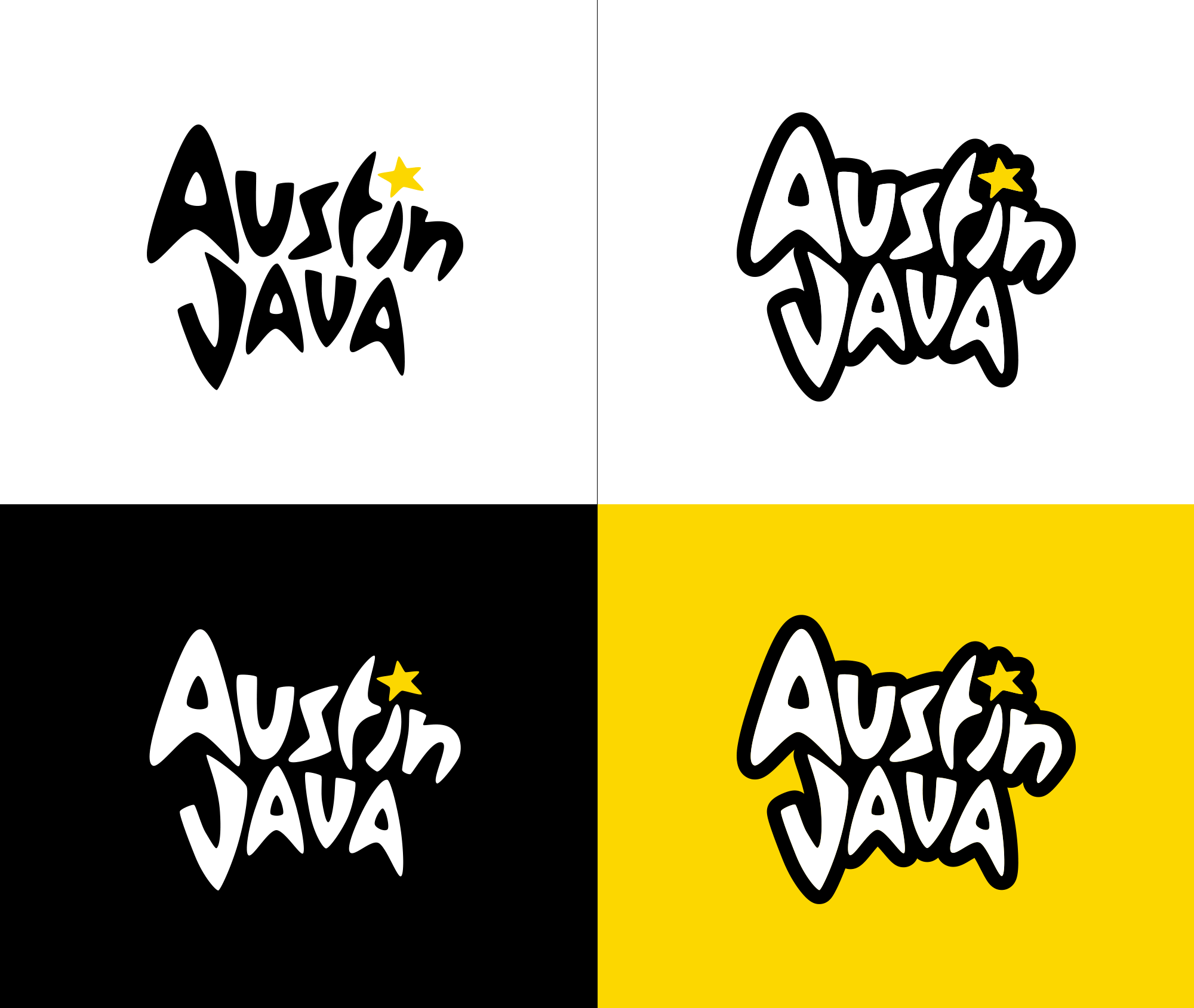 New Logo and Identity for Austin Java by Tilted Chair