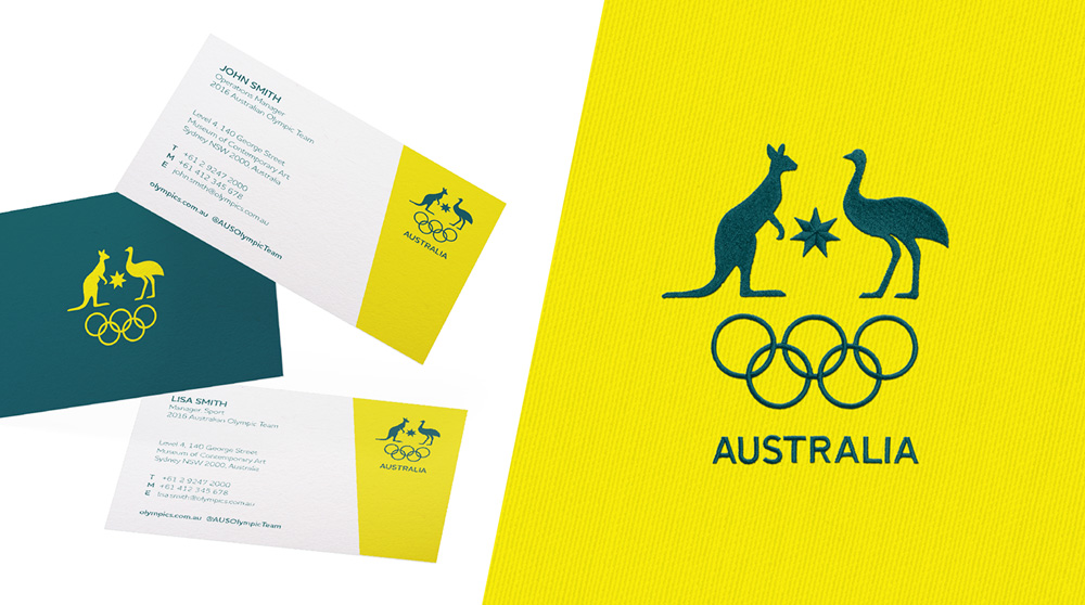 Brand new new logo and identity for australian olympic committee new logo and identity for australian olympic committee business card reheart Image collections
