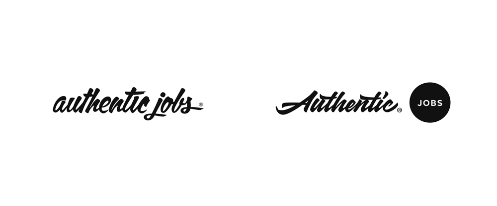 New Logo for Authentic Jobs by Sergey Shapiro and Cameron Moll
