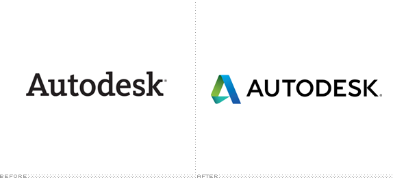 Autodesk Logo, Before and After