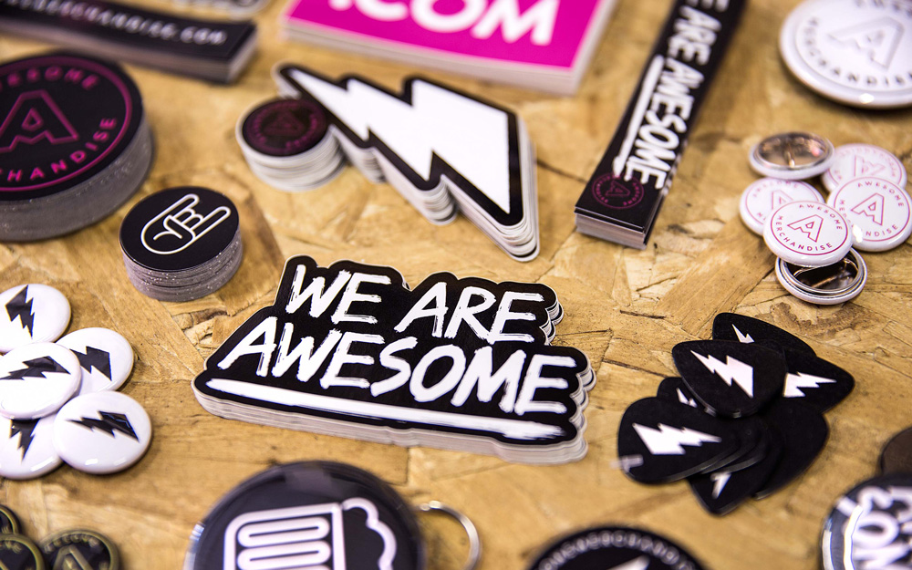 New Logo and Identity for Awesome Merchandise by Robot Food